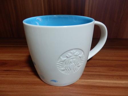 Starbucks City Mug 2014 Spring Floral Mug Blue Interior 16oz