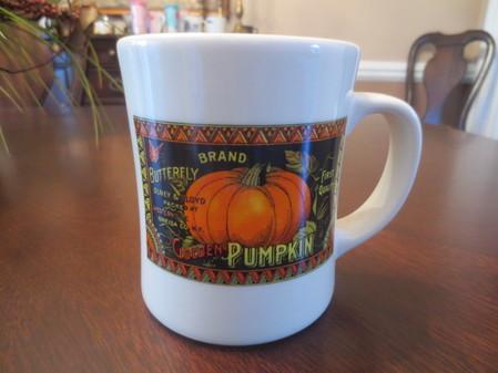 Starbucks City Mug Cream Pumpkin Barista 2003