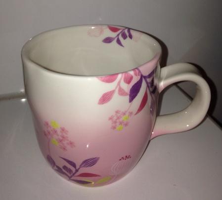 Starbucks City Mug 2014 Pink Flowers Spring Mug 14oz