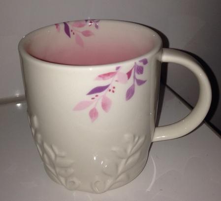 Starbucks City Mug 2014 White Relief Spring Mug 12 oz