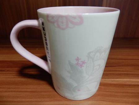 Starbucks City Mug 2014 Pink Flower Mug 12oz