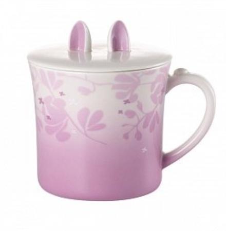 Starbucks City Mug 2014 Mid Autumn Festival Purple Mug with Bunny Ears Lid