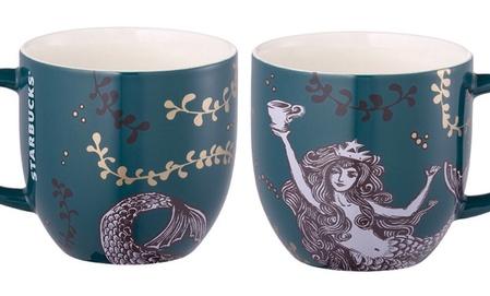 Starbucks City Mug 2014 Taiwan Anniversary mug (green)