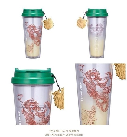 Starbucks City Mug 2014 Anniversary Charm Tumbler