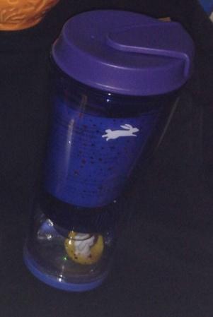 Starbucks City Mug 2014 Mid Autumn Festival Bunny Snowglobe Tumbler