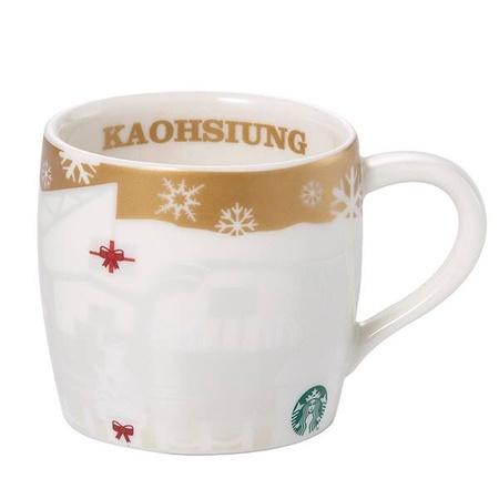 Starbucks City Mug 2014 Kaohsiung Gold Mini Relief