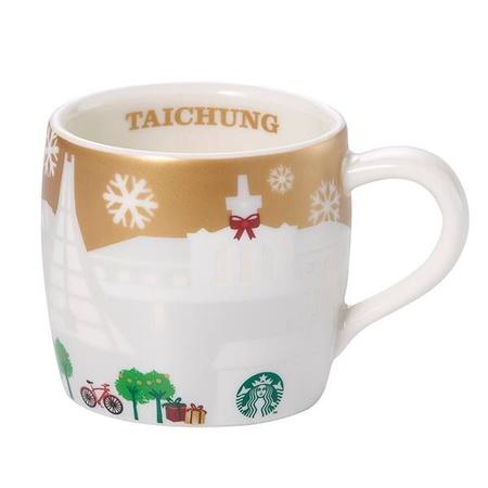 Starbucks City Mug 2014 Taichung Gold Mini Relief