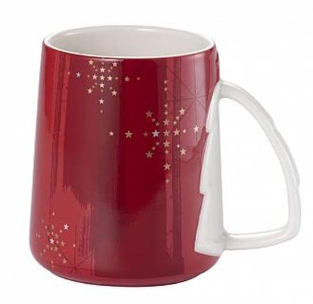 Starbucks City Mug 2014 Sparkling Christmas Tree Mug