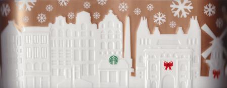 Starbucks City Mug 2014 Amsterdam Gold Relief
