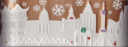 Starbucks City Mug 2014 Shanghai Gold Relief