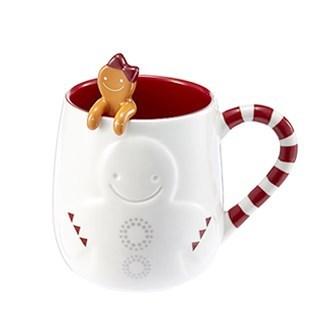 Starbucks City Mug Candy Cane girl mug & spoon