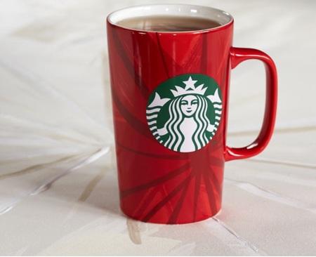 Starbucks City Mug 2014 Dot Collection Red Holiday Cup Mug 16oz