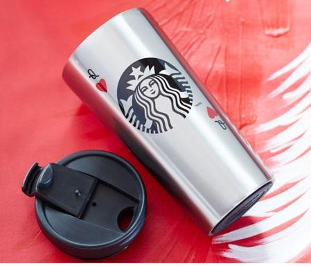 Starbucks City Mug 2014 Dot Collection Queen of Hearts tumbler 16oz