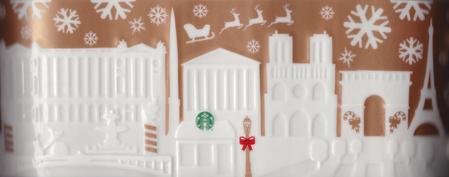Starbucks City Mug 2014 Paris Gold Relief