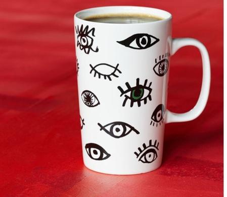 Starbucks City Mug 2014 Dot Collection Eyes Mug 16oz