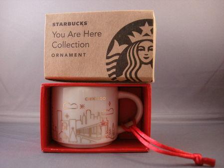Starbucks City Mug 2014 Chicago YAH ornament