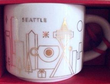 Starbucks City Mug 2014 Seattle YAH ornament