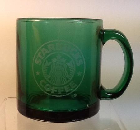 Starbucks City Mug Green Transparent Glass Logo Mug