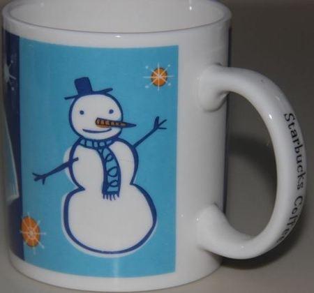 Starbucks City Mug Snowman, 2000