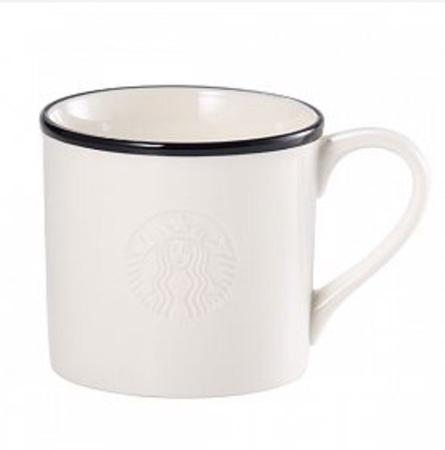 Starbucks City Mug 2015 Black Rim Logo Mug