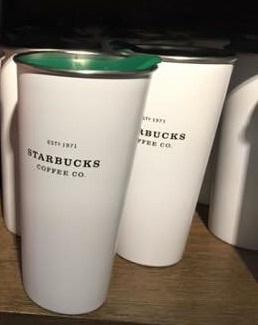 Starbucks City Mug 2014 White Stainless Steel Tumbler