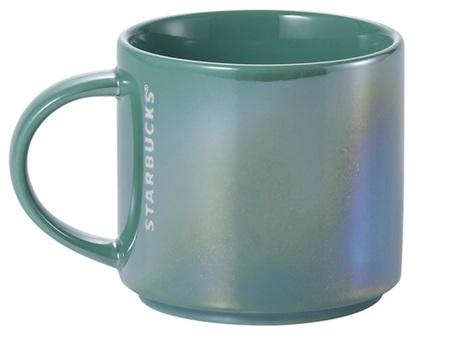 Starbucks City Mug 2015 Stacking Iridescent Green Mug 10oz