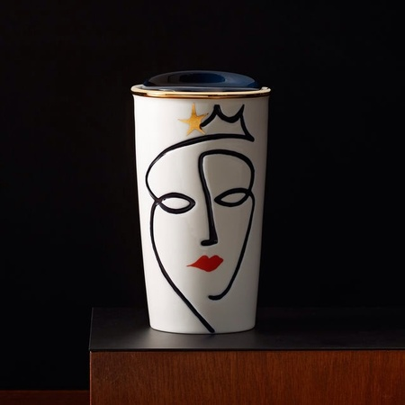 Starbucks City Mug 2015 Anniversary Siren Ceramic Tumbler (etched face)