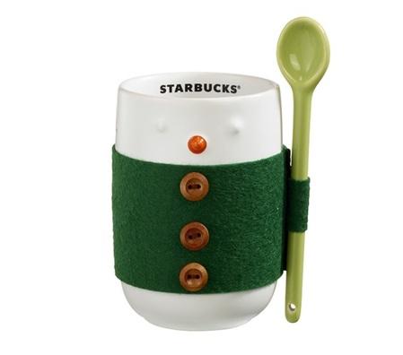 Starbucks City Mug 2015 Snowman with Felt Coat mug 8 oz