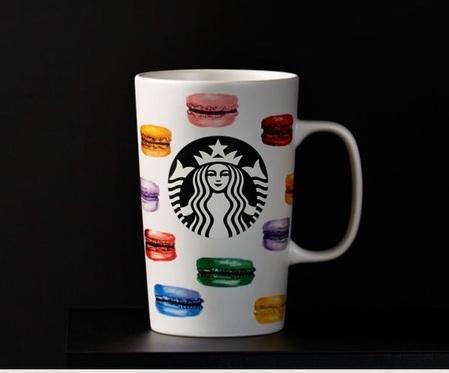 Starbucks City Mug 2015 Rainbow Macarons Mug 16oz
