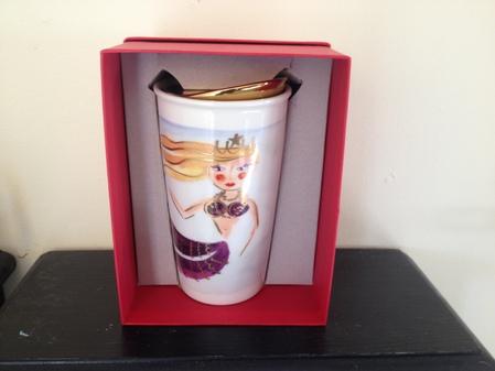 Starbucks City Mug 2015 Illustrated Siren Double Wall Traveler