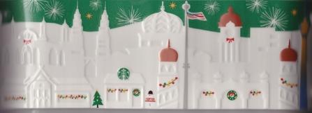 Starbucks City Mug 2015 Kuala Lumpur Green Relief