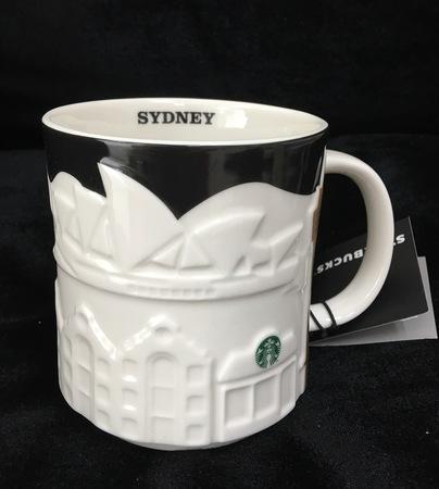 Starbucks City Mug 2016 Sydney Black Relief