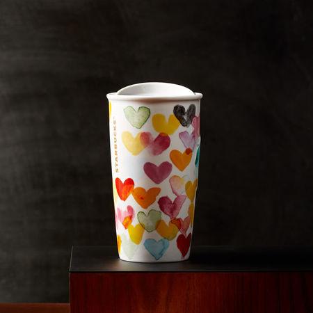 Starbucks City Mug 2016 Valentine Hearts Traveler From