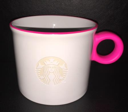 Starbucks City Mug 2016 Etched Siren Logo Neon Pink Mug 12oz