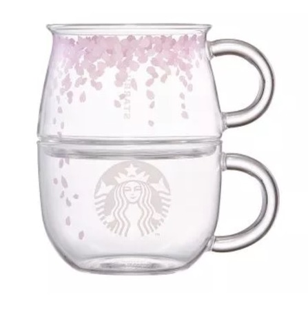 Starbucks City Mug 2016 Set of two Cherry Blossom Glasses