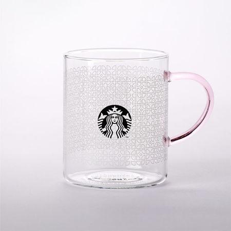 Starbucks City Mug 2016 Frosted Pattern Glass 14oz