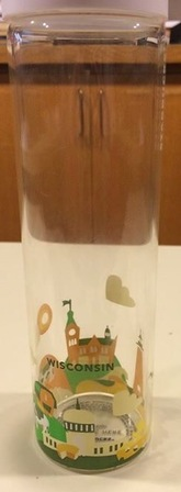 Starbucks City Mug You Are Here Wisconsin Water Bottle