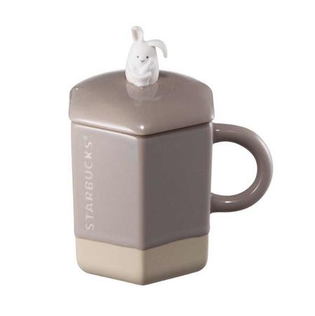 Starbucks City Mug 2016 Woodland Full Moon Grey Bunny Mug