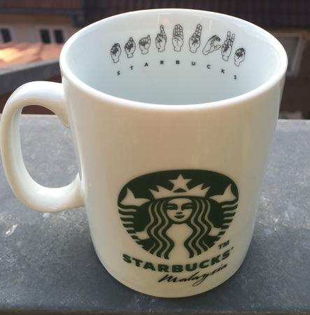 Starbucks City Mug 2016 Malaysia Deaf Partners Mug From
