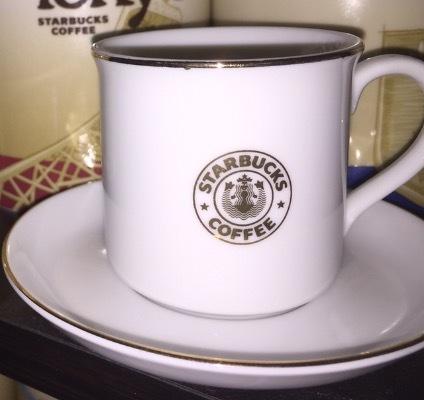 Starbucks City Mug 1996 Japan Espresso Old Logo Mug 3oz with saucer