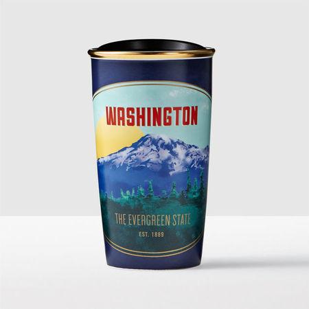 Starbucks City Mug 2016 Washington State Double Wall Traveler