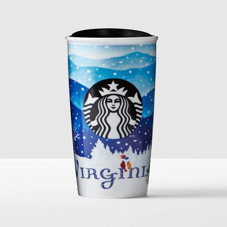 Starbucks City Mug 2016 Virginia Double Wall Traveler