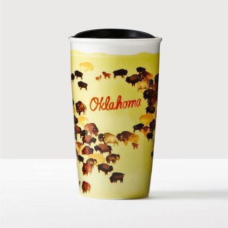 Starbucks City Mug 2016 Oklahoma Double Wall Traveler