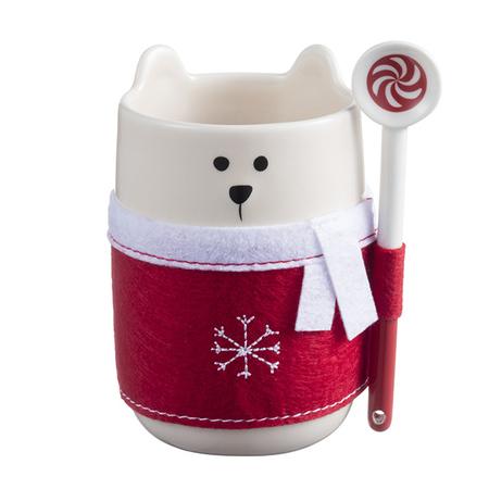 Starbucks City Mug Bear with Red Scarf