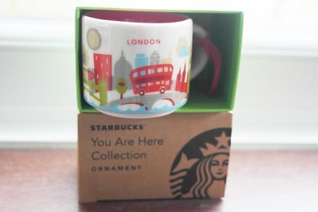 Starbucks City Mug London YAH Collection Ornament 2016