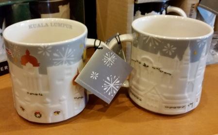 Starbucks City Mug 2016 Kuala Lumpur Silver Relief