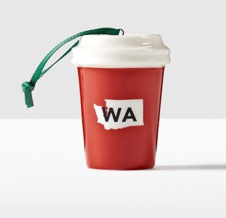 Starbucks City Mug 2016 Washington State Ornament