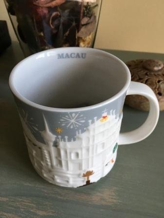 Starbucks City Mug 2016 Macau Silver Relief
