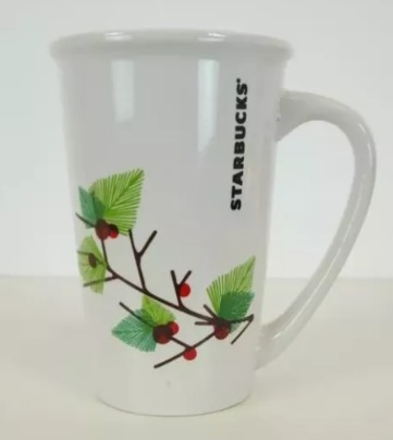 Starbucks City Mug 2011 Holiday Holly Branch