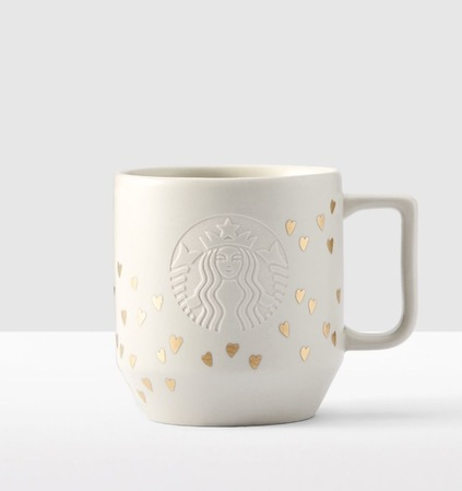 Starbucks City Mug 2017 Gold Hearts Handle Mug